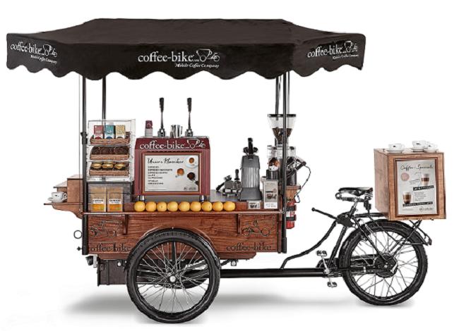Coffee-Bike, xe cà phê 3 bánh nhượng quyền của Đức phát triển nhanh nhất Châu Âu.
