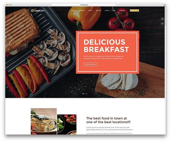 TOP 10 giao diện website cho nhà hàng vừa và nhỏ